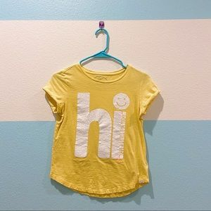 Gap Hi Have A Little Fun Today Yellow Tee